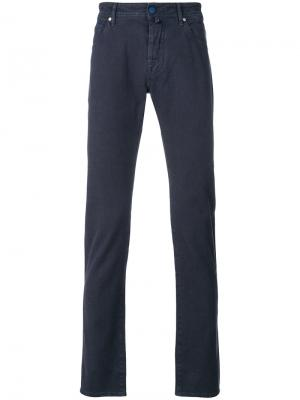 Фактурные брюки Jacob Cohen. Цвет: синий