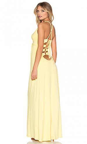 Макси платье sumarlina sky. Цвет: желтый
