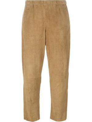 Укороченные брюки Drome. Цвет: телесный