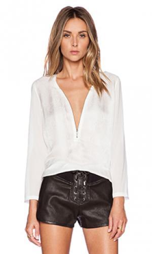 Шелковая блуза с длинным рукавом The Kooples. Цвет: ivory
