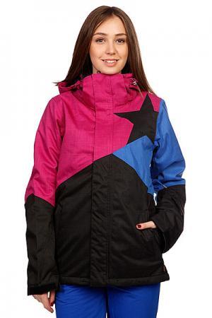 Куртка женская  Snow Jacket Sarin Women Black Zimtstern. Цвет: розовый,черный