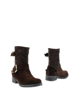 Полусапоги и высокие ботинки GRIFF ITALIA. Цвет: темно-коричневый