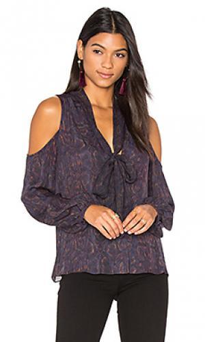 Вязанная блуза с открытыми плечами vida Haute Hippie. Цвет: фиолетовый