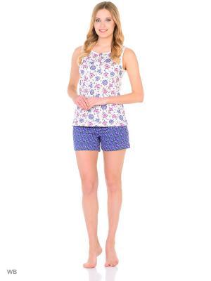 Пижама NAGOTEX. Цвет: белый, розовый, сиреневый