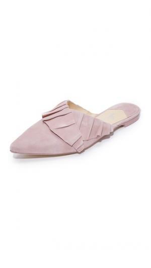 Туфли без задников Rafaella с оборками Isa Tapia. Цвет: «пыльный» розовый