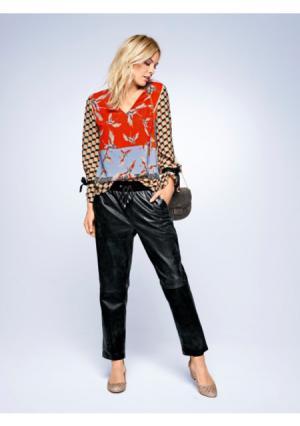 Кожаные брюки RICK CARDONA by Heine. Цвет: серый, темно-синий, черный