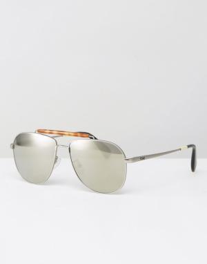 Toms Солнцезащитные очки-авиаторы Booker. Цвет: серебряный