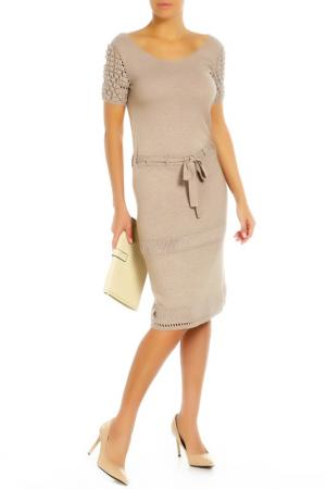 Платье Alberta Ferretti. Цвет: светло-бежевый