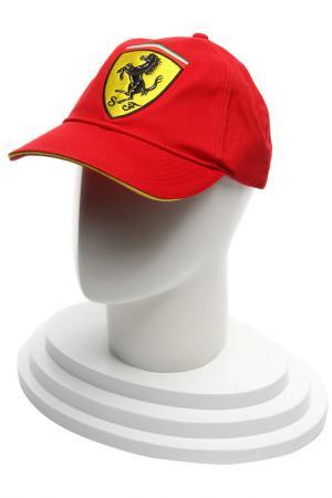 Бейсболка Скудетто Классик Ferrari. Цвет: красный