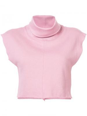 Укороченный топ-толстовка Daniel Patrick. Цвет: розовый и фиолетовый