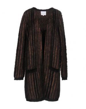 Легкое пальто SECOND FEMALE. Цвет: коричневый