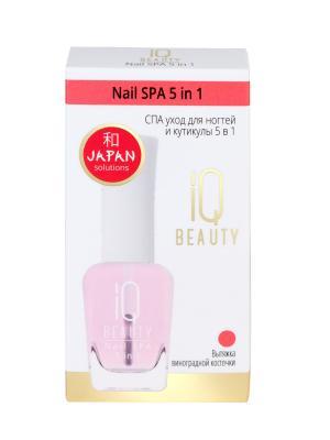 Спа уход для ногтей и кутикулы 5 в1 /  Nail SPA in 1 IQ BEAUTY. Цвет: прозрачный