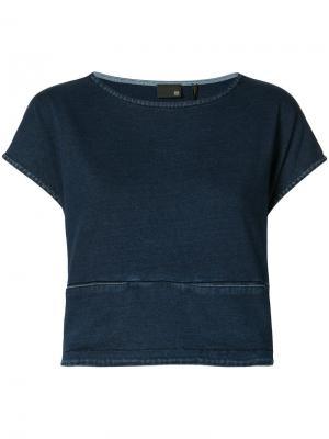 Укороченная джинсовая блуза Ag Jeans. Цвет: синий