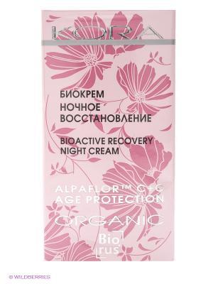 Биокрем ночное восстановление КОРА. Цвет: розовый