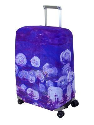 Чехол для чемодана Night Lights M/L Coverway. Цвет: темно-фиолетовый