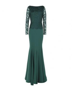 Длинное платье RHEA COSTA. Цвет: зеленый