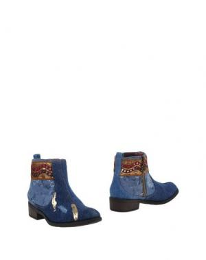 Полусапоги и высокие ботинки DESIGUAL. Цвет: синий