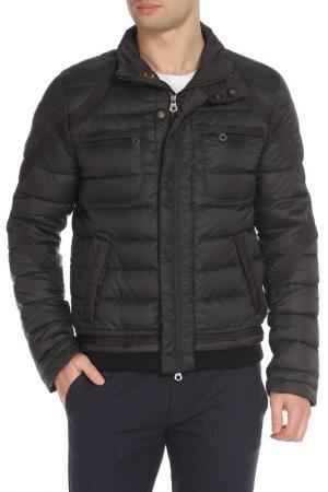 Полуприлегающая куртка с четырьмя карманами ERMANNO BY SCERVINO. Цвет: 900 черный
