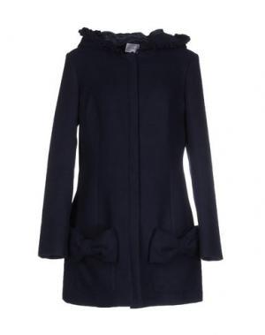 Пальто PINK BOW. Цвет: темно-синий