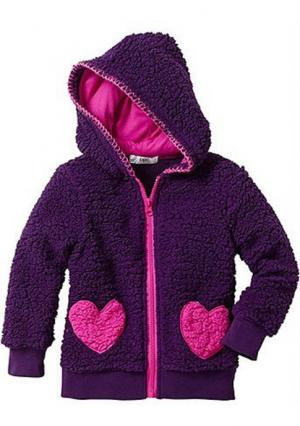 Куртка. Цвет: кремовый/фуксия, темно-лиловый/фуксия