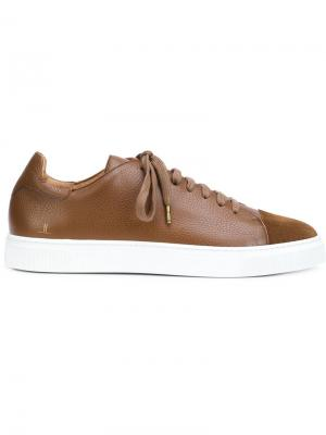 Кеды на шнуровке Louis Leeman. Цвет: коричневый