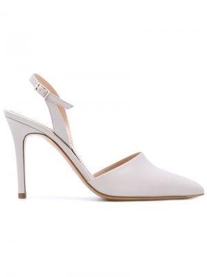 Туфли с ремешком на пятке Antonio Barbato. Цвет: телесный