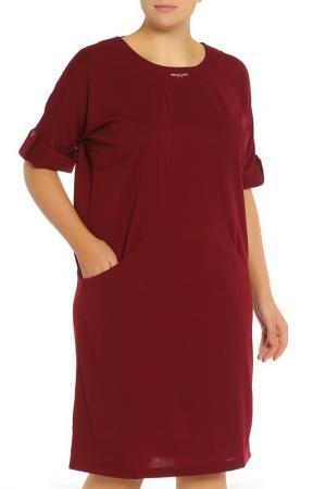 Платье Сафина BlagoF. Цвет: бордовый