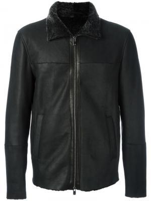Кожаная куртка на молнии Drome. Цвет: чёрный
