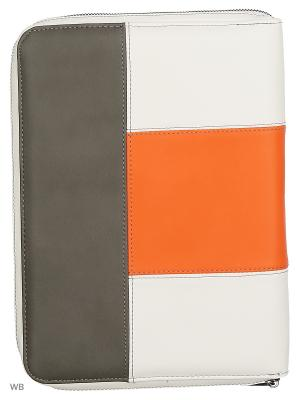 Чехол United Colors of Benetton. Цвет: белый, оранжевый, темно-серый