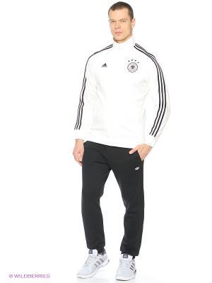 Толстовка Dfb 3s Trk Top Adidas. Цвет: белый