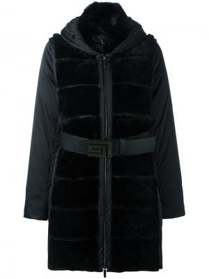 Пальто-пуховик со съемными рукавами Guy Laroche Vintage. Цвет: чёрный