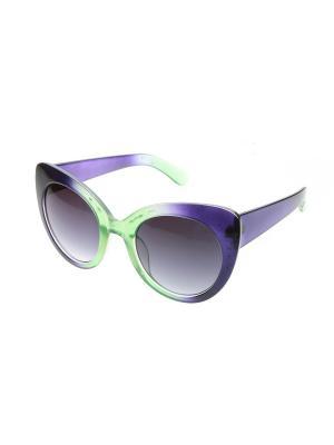 Очки солнцезащитные Pretty Mania. Цвет: фиолетовый,черный,зеленый