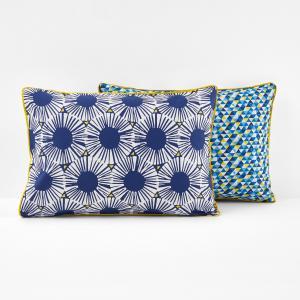 Наволочки с рисунком, Blue Riviera La Redoute Interieurs. Цвет: белый/синий/желтый