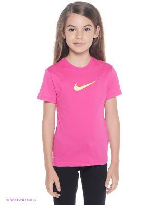 Футболка LEGEND SS TOP YTH Nike. Цвет: розовый