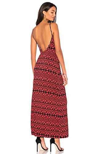 Платье-комбинация evan Clayton. Цвет: ржавый