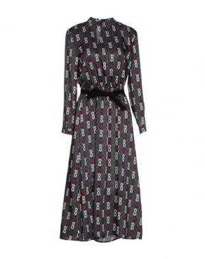 Платье длиной 3/4 VICOLO. Цвет: серый