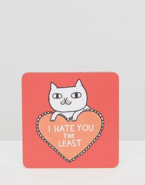 OHH DEER Подставка под напитки I Hate You. Цвет: мульти
