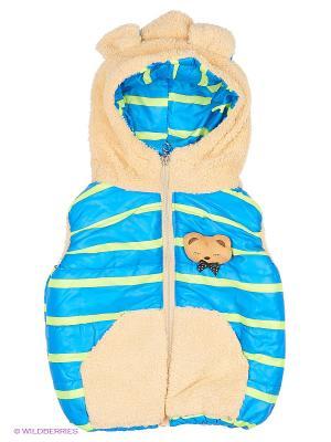 Жилет Happy Bear. Цвет: голубой, бежевый