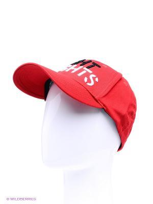 Бейсболка Fight Nights прямой логотип. Цвет: красный, белый, черный