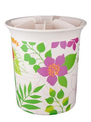 Подставка для кухонных приспособлений Ecowoo. Цвет: белый, зеленый, лиловый
