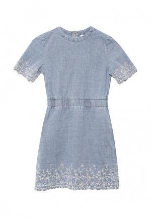Платье джинсовое Overmoon by Acoola. Цвет: голубой