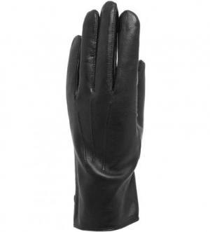 Кожаные перчатки с шелковой подкладкой Bartoc. Цвет: черный