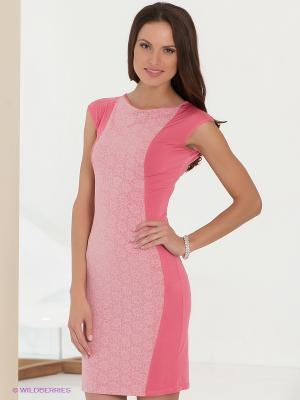 Платье Fuzer. Цвет: розовый