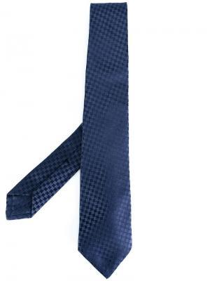 Классический жаккардовый галстук Kiton. Цвет: синий