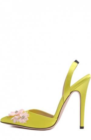 Туфли Giambattista Valli. Цвет: желтый