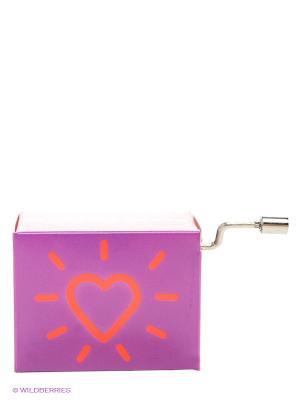 Музыкальная шкатулка Сиреневое сердечко FRIDOLIN. Цвет: сиреневый