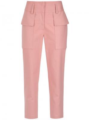 Укороченные брюки Giuliana Romanno. Цвет: розовый и фиолетовый