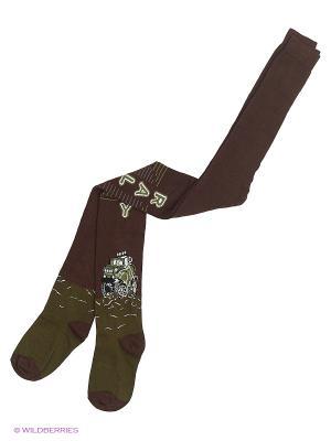 Колготки BROSS. Цвет: коричневый, оливковый