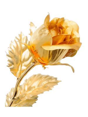 Роза - бутон Gold Leaf. Цвет: золотистый