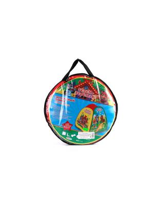 Детская игровая палатка Играем Вместе теремок. Цвет: красный, желтый, зеленый